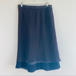 Moschino Black Tiered Ruffled Midi Skirt 10